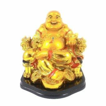 Feng Shui Golden Laughing Buddha for Wealth Luck