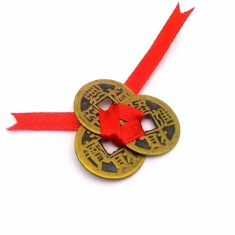 Feng Shui Red Ribbon Lucky Coins