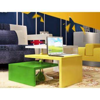 FOREVER 3-in-1 Swivel Coffee Table (White/Yellow/Green)