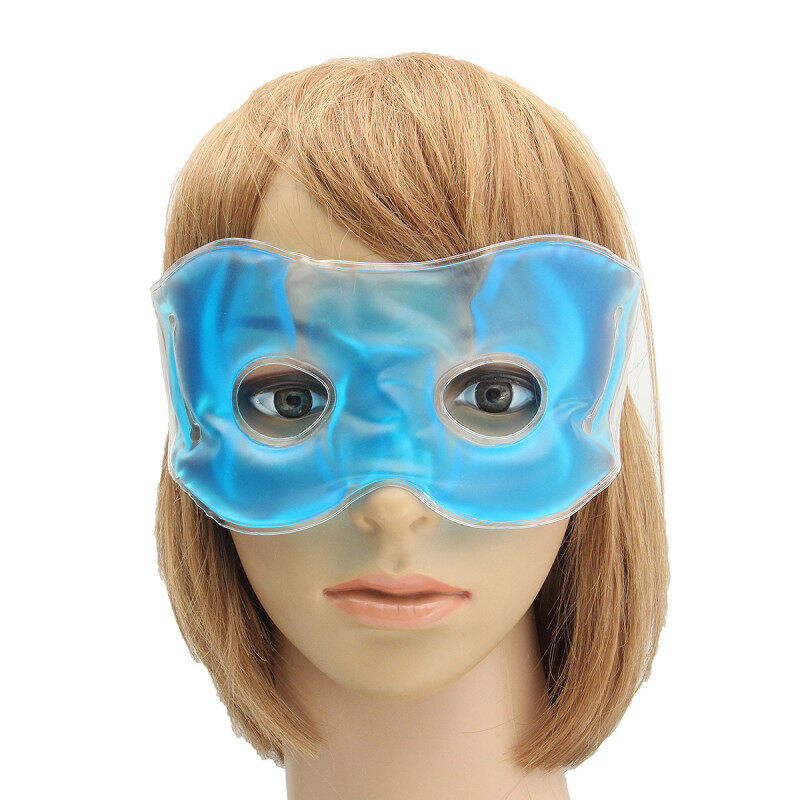 Gel Eye Mask Cold Pack Warm Hot Heat Ice Cool Soothing Tired Eyes Headache Pads