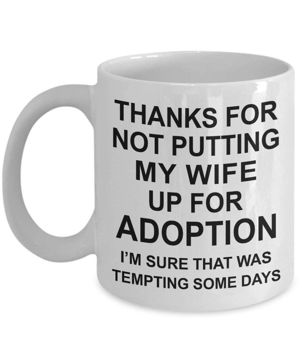 Hadiah untuk Orang Tua Hari-Ayah Pengantin Wanita Hadiah dari Groom-Terima Kasih untuk Tidak Meletakkan Istriku Hingga untuk Diadopsi Kopi Mug-Hari Ibu Tea Cangkir dari Putri atau Menantu-Hadiah Ulang Tahun Pernikahan -Internasional