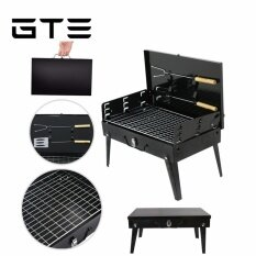 Gte Camping Trip Portable Outdoor Barbecue Desktop Barbeque Foldable Box Type Bbq Charcoal Grill Toaster