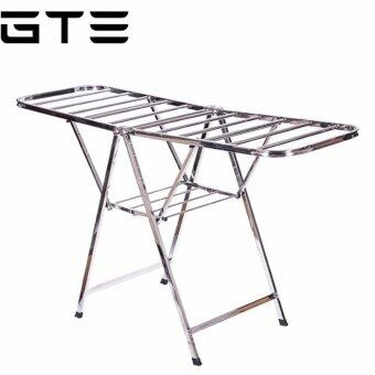 GTE High Quality Stainless Steel Foldable Clothes Drying Rack