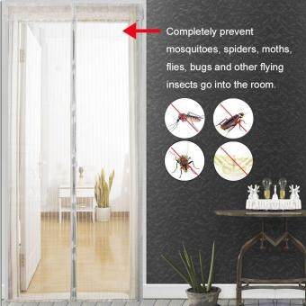 Hands-Free Mesh Net Anti Mosquito 120*210cm Insect Curtain ScreenDoor Magnetic