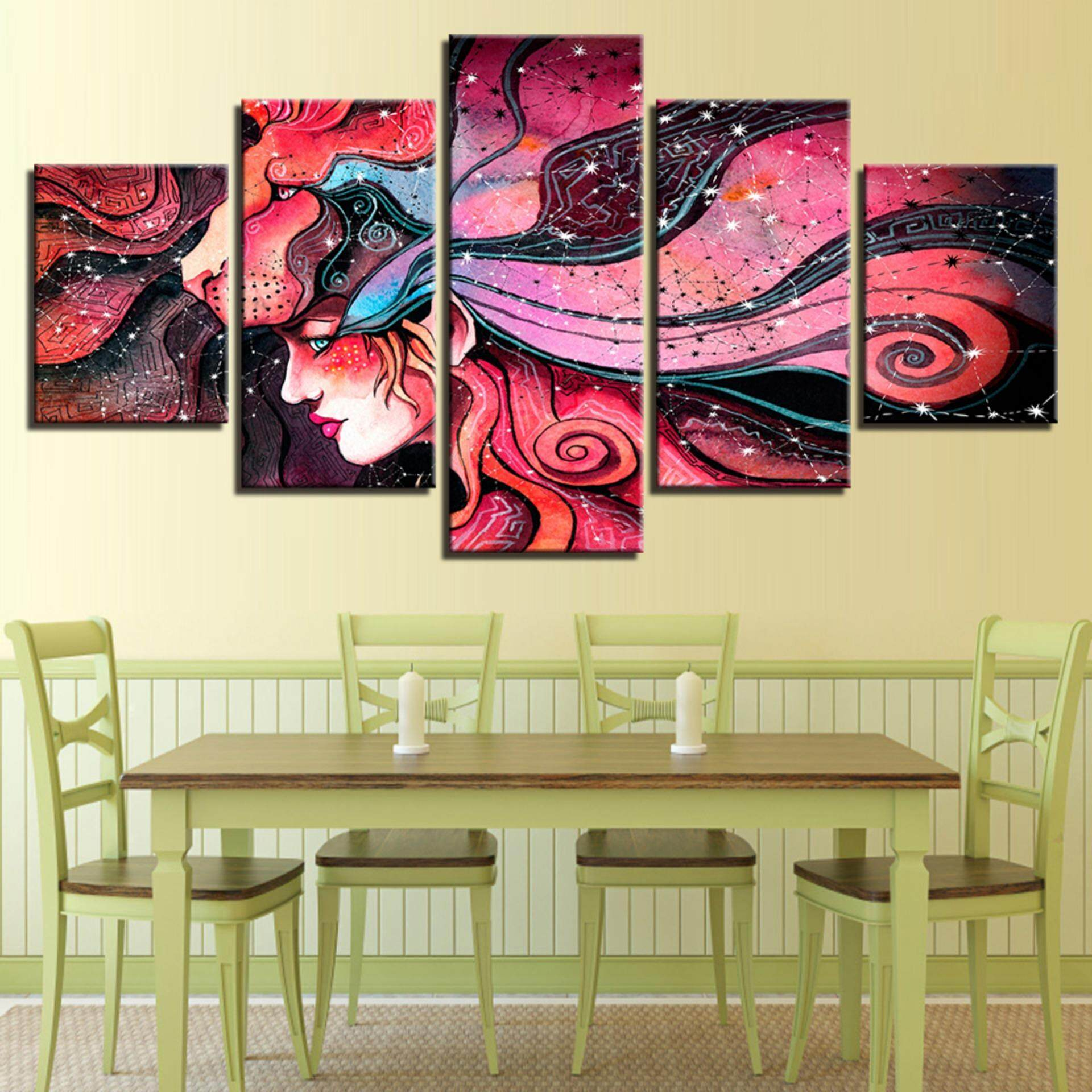 New Anime Your Name Canvas Print Painting 5 Piece No Frame Wall Art ...