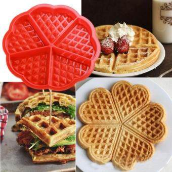 Heart Shape Waffle Mold Maker 5-Cavity Silicone Oven Pan MicrowaveBaking Cookie Cake Muffin Cooking Tools