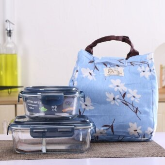 Heat-resistant glass container microwave oven lunch box