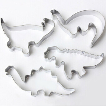 HengSong 4PCS Dinosaur Animal Stainless Steel Baking Fondant CakeBiscuit Pastry Cookies Cutter Decorating Mold Mould