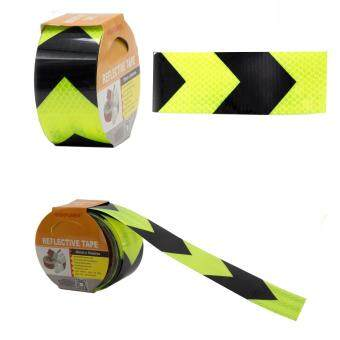 Highpower 50mm x 5meter Safety Reflective Warning Conspicuity FilmSticker Strip Self Adhesive tape yellow/black