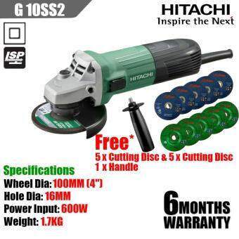 Hitachi G10SS2 4'' Angle Grinder 100mm Free Handle,Cutting & Grinding Disc