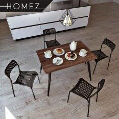 Homez Modern Contemporary Dining Table Set HMZ DT M01(11070)+HMZ