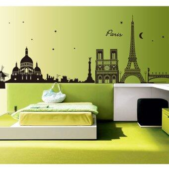 Hot home decor paris eiffel tower removable decal room for Room decor lazada