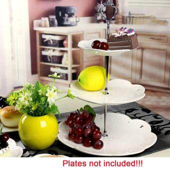 iBelieve 3 Tier Cake Plate Stand Cupcake Fitting Hardware Tool forWedding Party