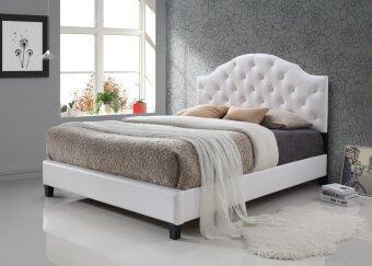 infinity bed series infi 2840a queen size bed frame pu white