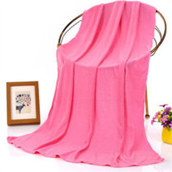 Ishowmall 70x140cm Microfibre Absorbent Sports Travel Gym BeachQuick Dry Bath Washcloth Shower Towel Hotpink
