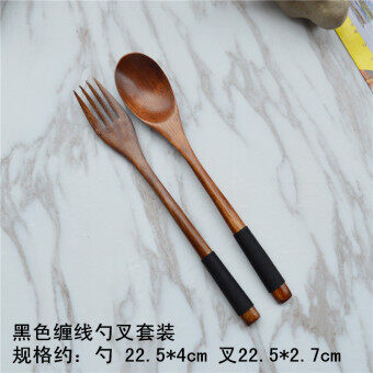 Japanese-style wooden fork wooden spoon