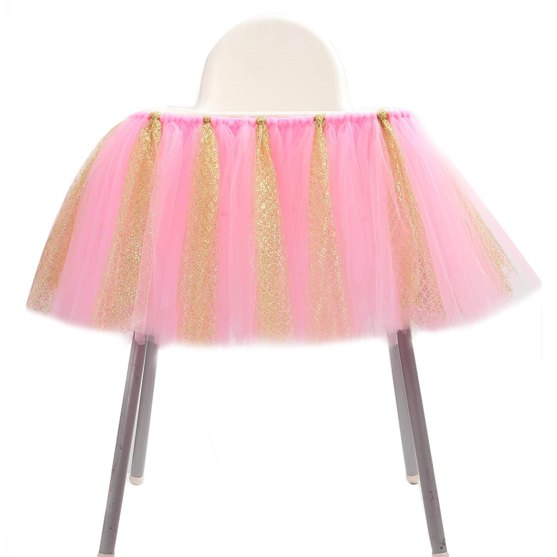 JNSS Adjustable Tutu Tulle Rok Bungkus untuk High Chair Baby Shower 1st Birthday Dekorasi-Intl
