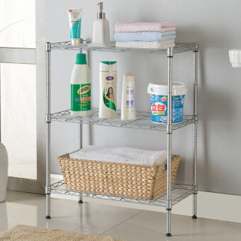 Kitchen shelving racks shelf floor bathroom storage rack finishing frame metal three rack bulkhead storage rack