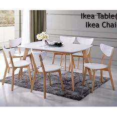 Kitchen Z Solid Wood Dining Table SN900X1500mm With 6 Chairs