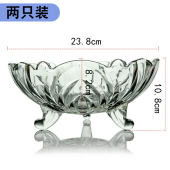 Large glass fruit bowl creative living room fruit plate candy dishhome European dried fruit bowl two sets