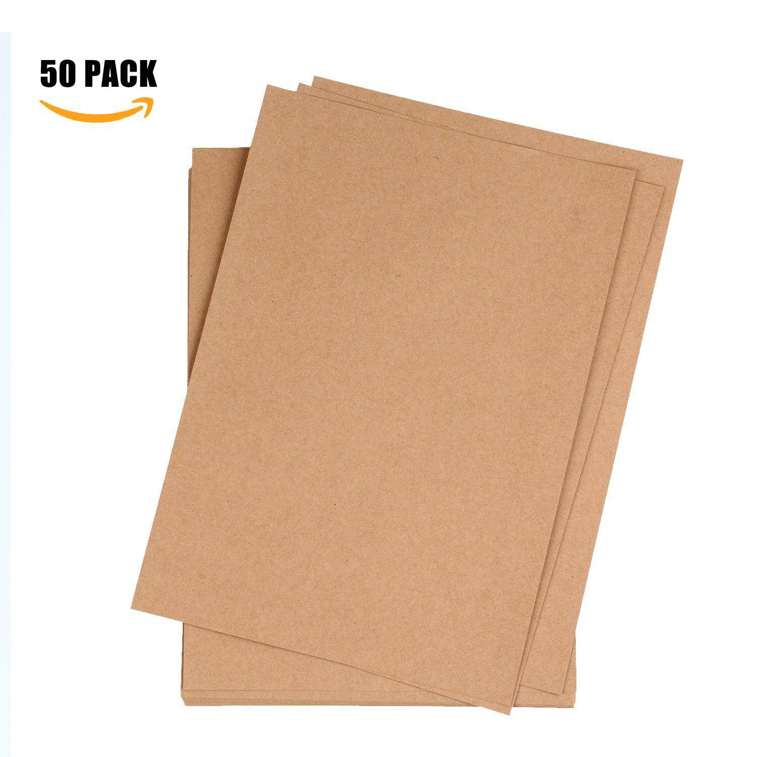 leegoal Kraft Paper, Pack Of 50 Natural Packing Wrapping Kraft Paper - 8.26x11.69inch - intl
