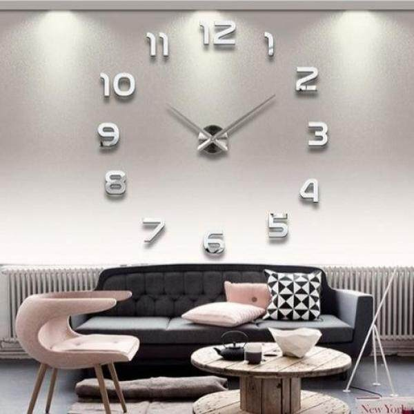 Lightinthebox 39w diy 3d mirror numbers acrylic sticker wall clock home decor wall clocks