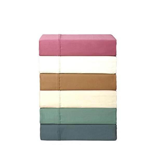 Linen Home 700 Thread Count Luxury Satin Sheet Set, Rich Cotton, Satin Weave, Queen Sheets, Deep Pockets,6-Piece Queen Bed Sheet Set Includes 2 EXTRA pillowcase, White - intl