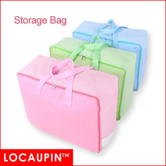 LOCAUPIN Storage Bag For Clothes Pillows Blanket Storage And Move Homeware Usage (Blue Color)