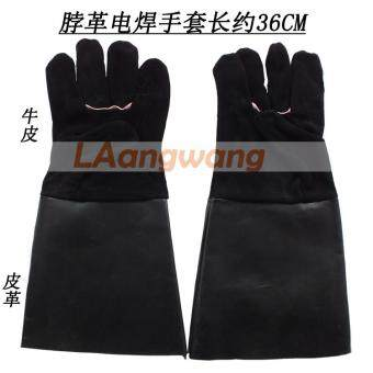 Long section Welding Welder leather welding heat-resistant high temperature fire anti-hot protective work safety gloves