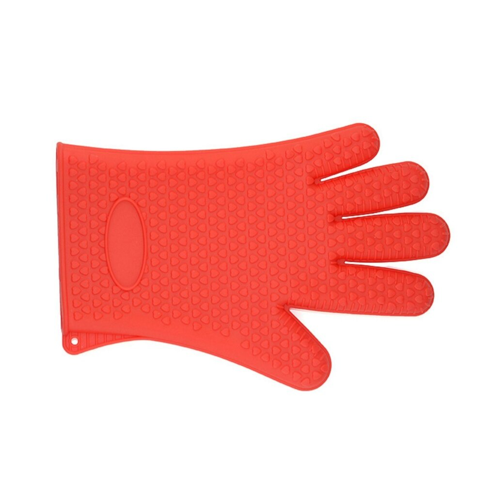 LUOWAN Oven mitts, Silicone Cooking Gloves For Men & Women Heat Resistant For Baking, BBQ, Smoking, Grilling, Fireplace, Pot Holding & More Dishwasher Safe
