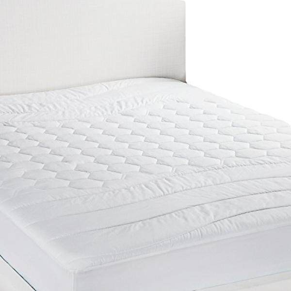 Alas Kasur XL Kembar/Kembar Tambahan Panjang Ukuran Anti-alergi-Antibakteri, bernapas-Ultra Lembut Quilted Mattress Pelindung, Sarung Kasur Berlapis Putih dengan Tempat Tidur-Internasional