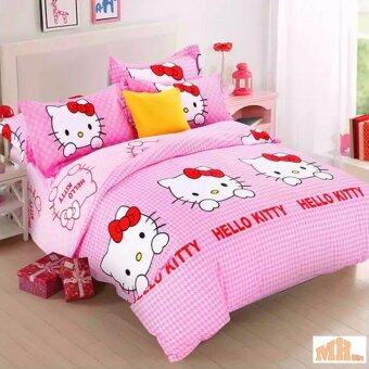 Maylee High Quality Cotton 2pcs Single Fitted Bedding Set 450TC Hello Kitty