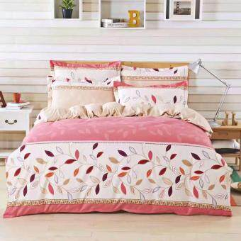 Maylee High Quality Cotton 2pcs Single Fitted Bedding Set 450TC(Leaf)
