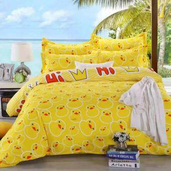 Maylee High Quality Cotton 3pcs Queen Fitted Bedding Set 450TC(Duck)