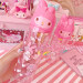 Melody cartoon plastic pink Travel toothbrush storage cup toothbrush cup