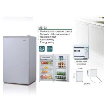 Midea ms 93 1 door refrigerator silver lazada malaysia for 1 door fridge malaysia