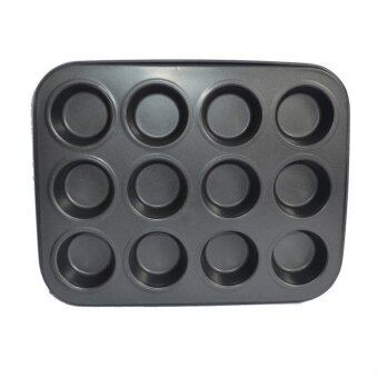 Mini 12- Cup Carbon Steel Muffin Pan Non-Stick Cake Mold Bakeware -