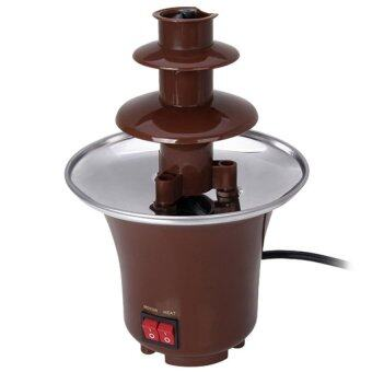 Mini Stainless Steel Chocolate Fountain Machine - Brown