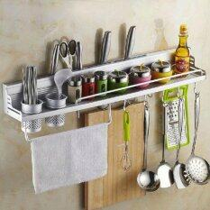 Multifunctional  60cm Space Aluminum Kitchen Wall Mounted Storage Rack (have Fence)  (Intl)