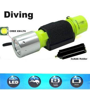 New LED Diving Flashlight Waterproof Underwater Scuba Diver TorchLight Lamp