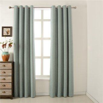New Light Green European Window Curtains For Living Room Door PanelBlackout Sheer Blind Screen Door Curtain 132X228cm