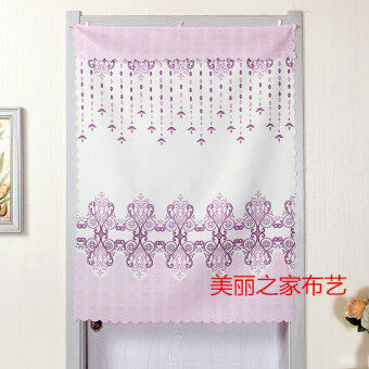 Nice curtain half-curtain Linen off the curtain living room halfdecorative summer home bedroom short curtain kitchen curtain cloth