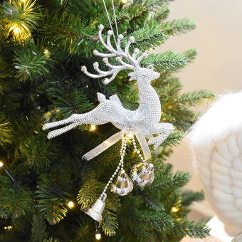 Nuo 20cm Bell Christmas elk Christmas tree decoration Christmas pendant