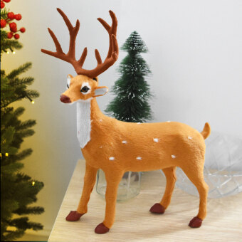 Nuo Qilu Christmas reindeer Meihua sled decoration pull car