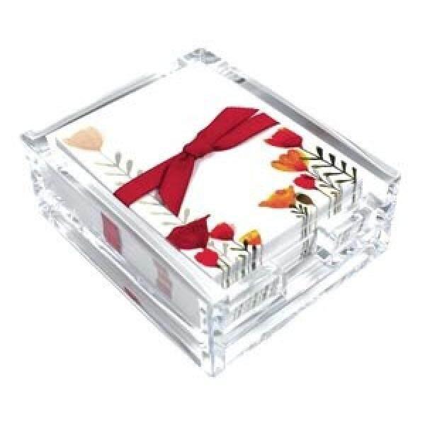 Buka Tulips Akrilik Meja Tulis Note Set, Lembar Memo dan Pemegang Akrilik, 150 Catatan Makalah, 3.25X4.25