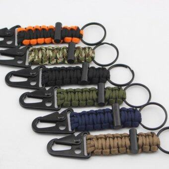 Outdoor Lifejacket Key Ring Camp Key Chain Fire Starter