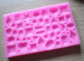 P072 chocolate gem sugar lace silicone Mold