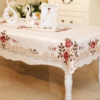 Pastoral cloth square rectangular coffee table cloth embroidered tablecloth