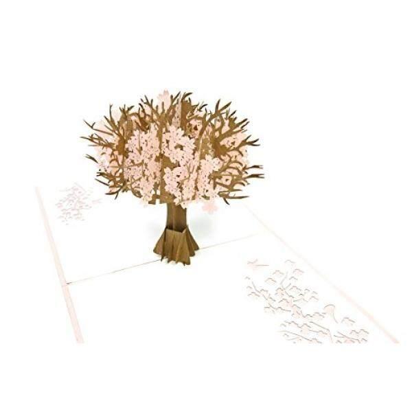 Poplife Ceri Blossom Pohon 3D Perhatian Hingga Kartu Ucapan untuk Semua Kesempatan Berbunga, Mekar, musim Semi-Lipat Datar Mailing-Hari Kasih Sayang, Ulang Tahun, Hari Ibu, Wisuda, Ulang Tahun, pertunangan-Internasional