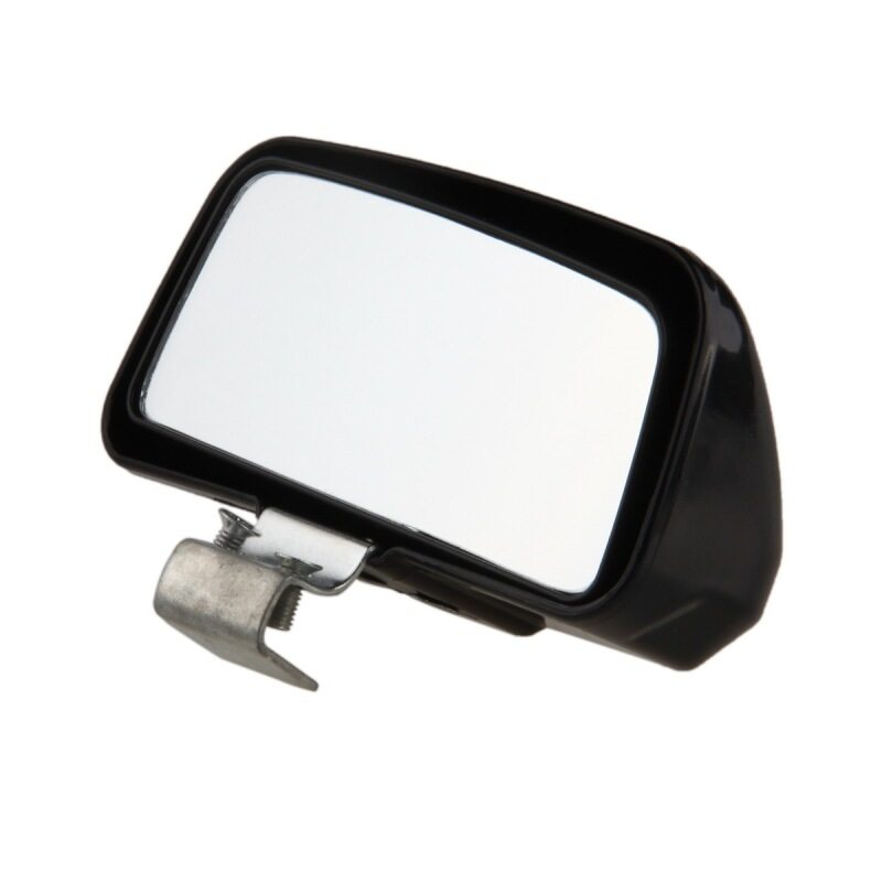 POSSBAY Car Exterior Rearview Convex Mirror Wide Angle Blind Spot Mirror Black - intl